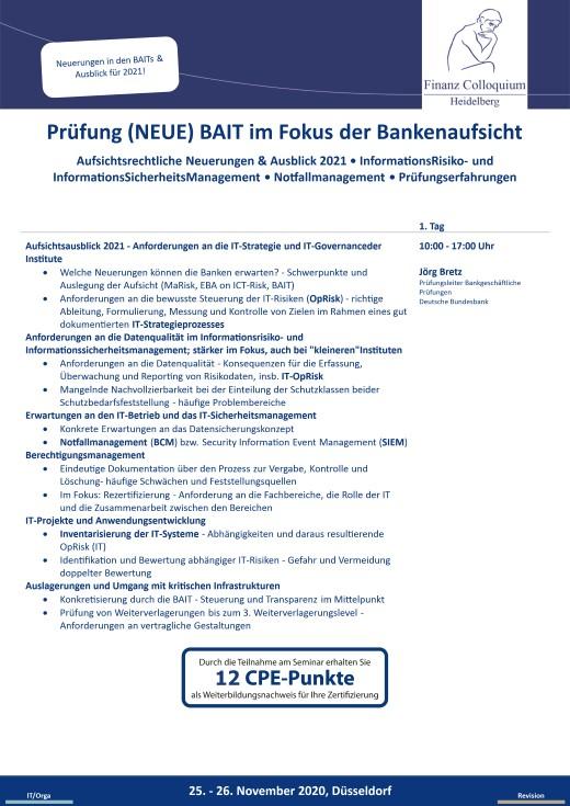 Pruefung NEUE BAIT im Fokus der Bankenaufsicht