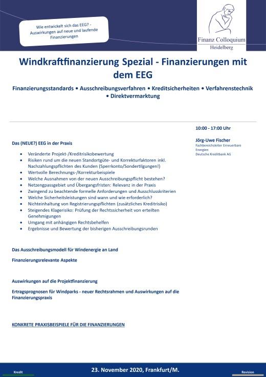 Windkraftfinanzierung Spezial Finanzierungen mit dem EEG