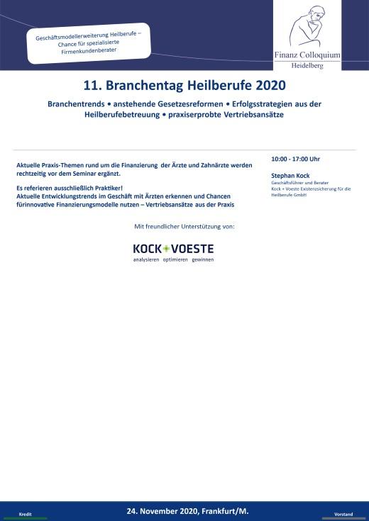 11 Branchentag Heilberufe 2020