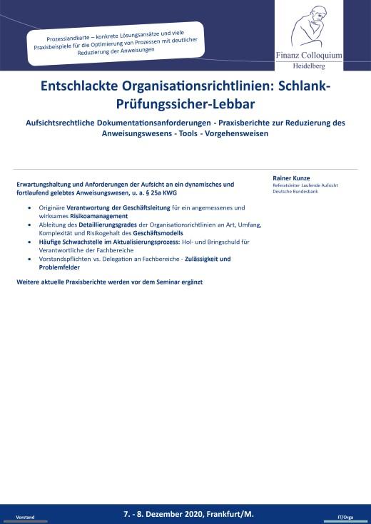 Entschlackte Organisationsrichtlinien SchlankPruefungssicherLebbar