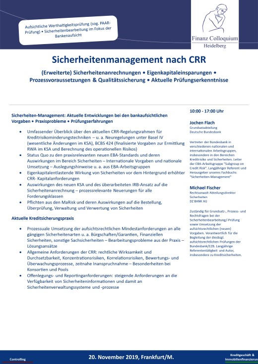 Sicherheitenmanagement nach CRR