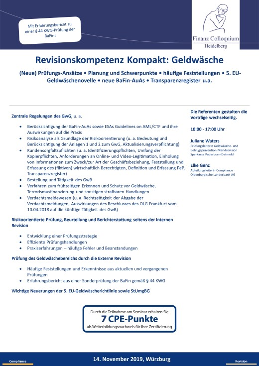Revisionskompetenz Kompakt Geldwaesche