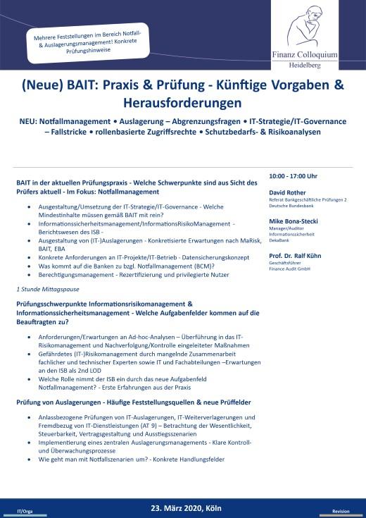 Neue BAIT Praxis Pruefung Kuenftige Vorgaben Herausforderungen