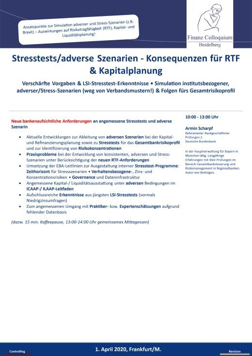 Stresstestsadverse Szenarien Konsequenzen fuer RTF Kapitalplanung