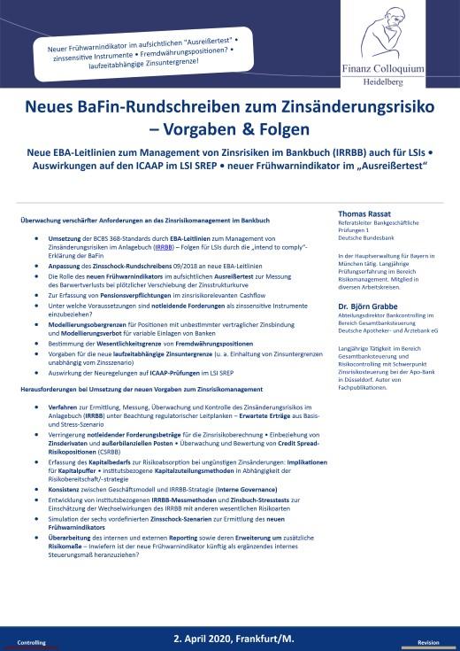 Neues BaFinRundschreiben zum Zinsaenderungsrisiko Vorgaben Folgen