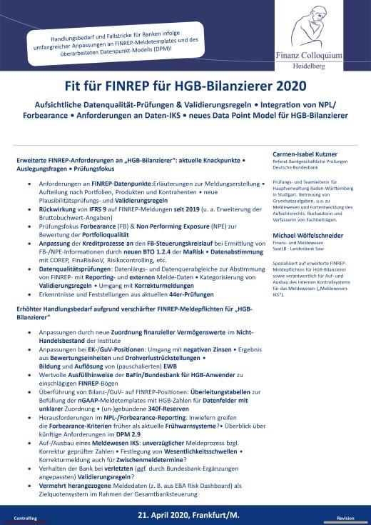 Fit fuer FINREP fuer HGBBilanzierer 2020