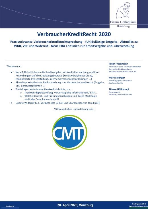 VerbraucherKreditRecht 2020