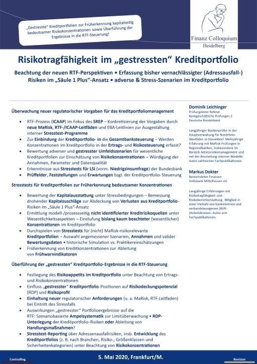 Risikotragfaehigkeit im gestressten Kreditportfolio