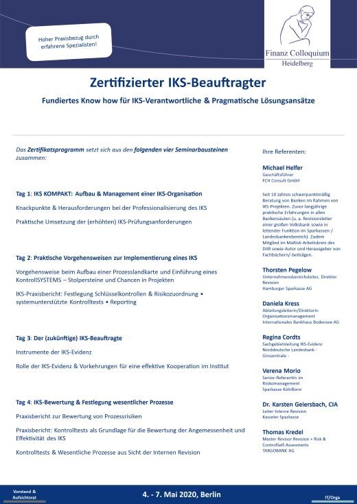 Zertifizierter IKSBeauftragter