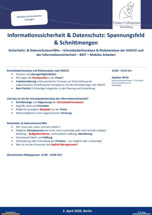 Informationssicherheit Datenschutz Spannungsfeld Schnittmengen