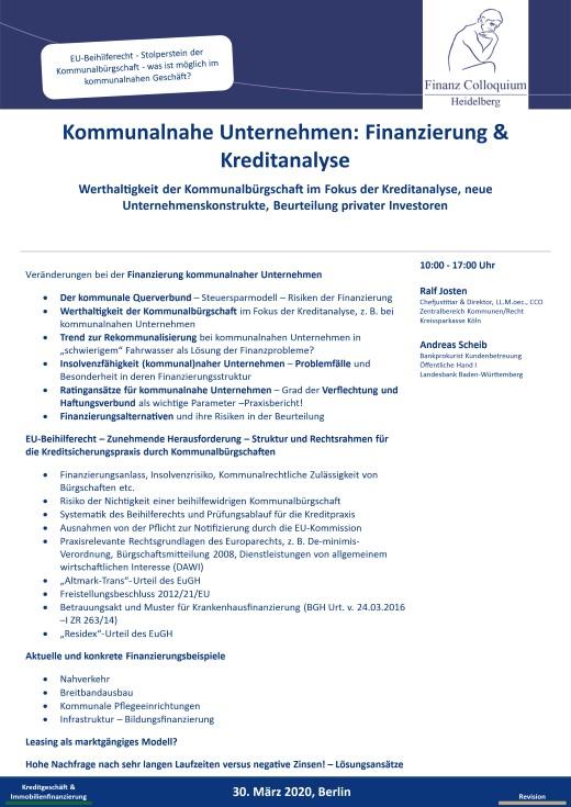 Kommunalnahe Unternehmen Finanzierung Kreditanalyse