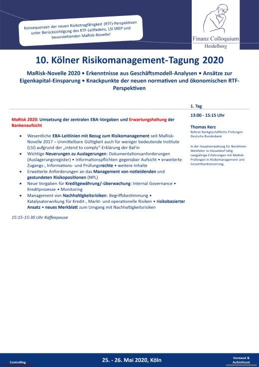 10 Koelner RisikomanagementTagung 2020