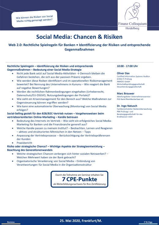 Social Media Chancen Risiken