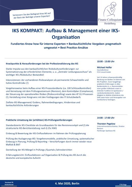 IKS KOMPAKT Aufbau Management einer IKSOrganisation