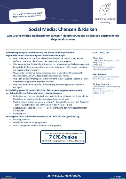 Social Media Chancen Risiken